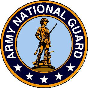 US Department of the Army National Guard Seal signifying M203grips are on M203 grenade luanchers in Army National Guard units.