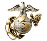 Marine Corps Emblem signifying M203grips are on Air Force security units M203 grenade launchers.