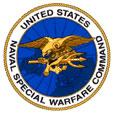 US Department of the Naval Special Warfare Command Seal signifying M203grips are on M203 grenade luanchers in Navy Seak units.