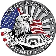 Logo in memory of September 11, 2001.