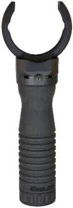 Click for larger photo of the M203grip with the Battery Handle.
