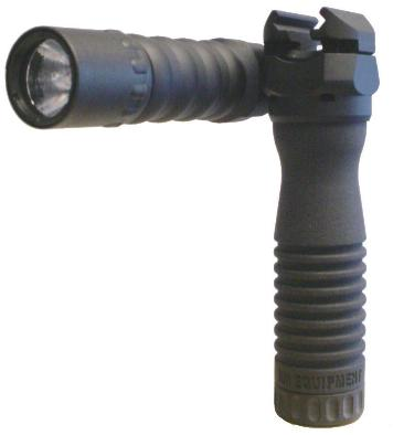Click for larger photo of the RM Rail Grip with the Tactical Light and Battery Handle.
