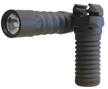 Click for larger photo of the RM Rail Grip with the Tactical Light and Tactical Handle.