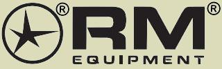 RM Equipment logo.  RM Equipment manufactures the M203 40mm grenade launcher as the M203PI.